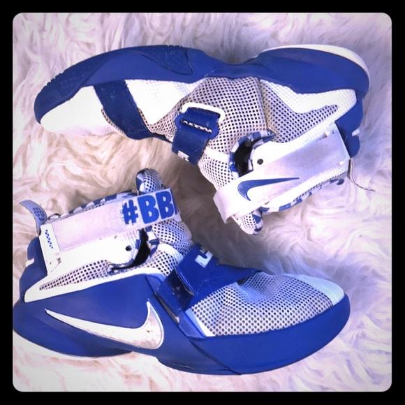 7d5e50499c88 Nike Lebron Soldier 9 Kentucky  BBN Shoes!!! M 5b781b7af3036966424f2e0d